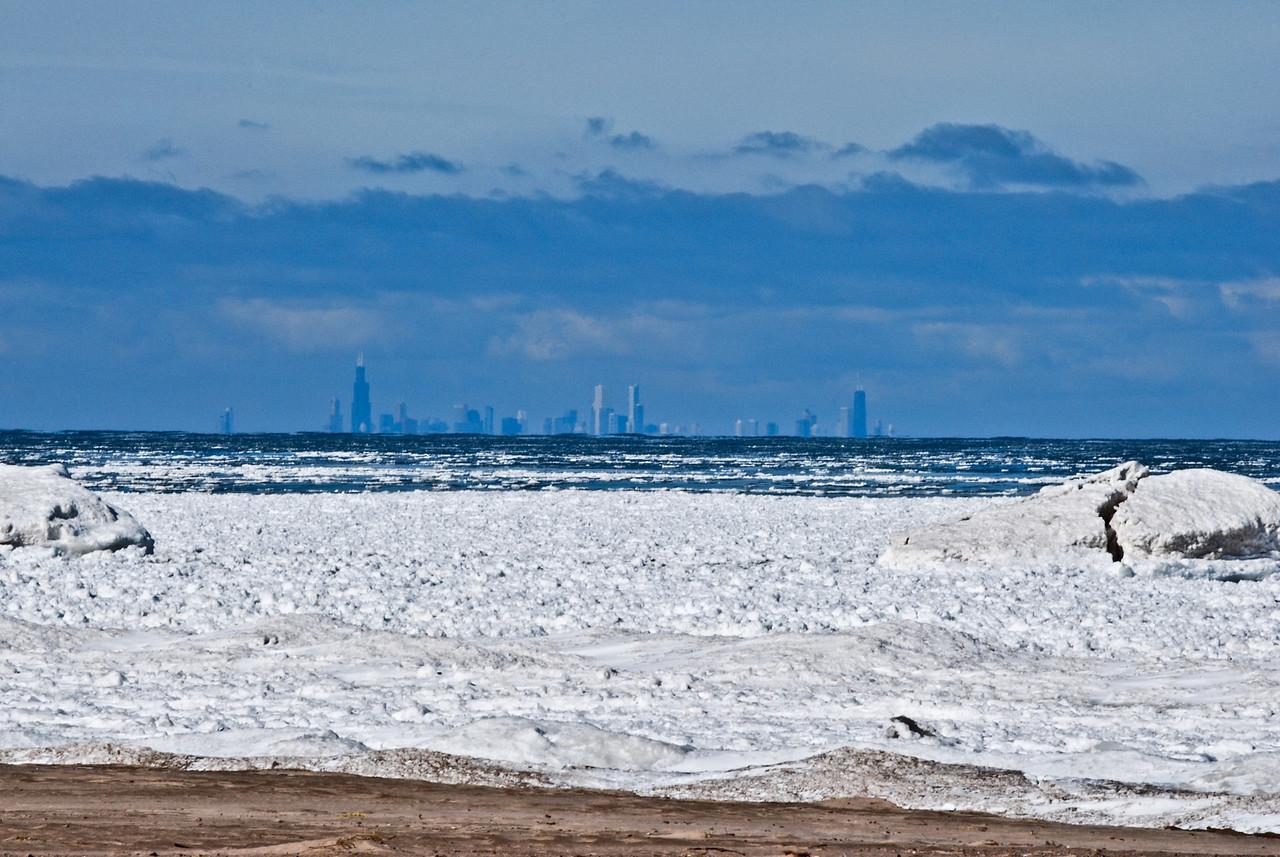 02-07-2010 - Chicago as seen across Lake Michigan